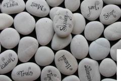 Bordkort av stein nærbilde