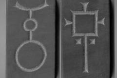 Steinhugging - 2 symboler